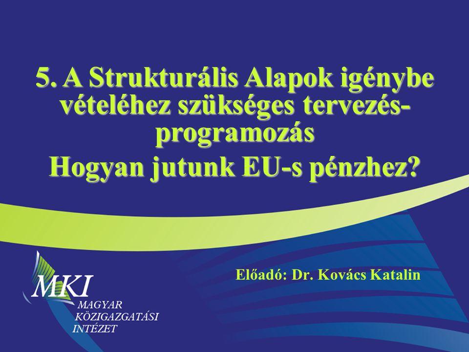 Előadó: Dr. Kovács Katalin