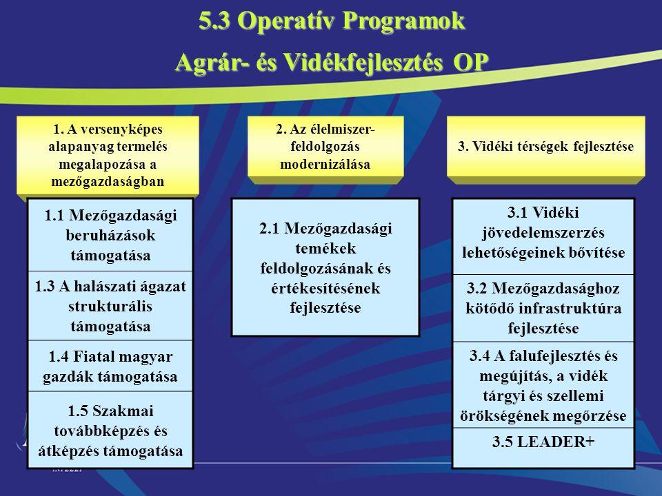 5.3 Operatív Programok Agrár- és Vidékfejlesztés OP