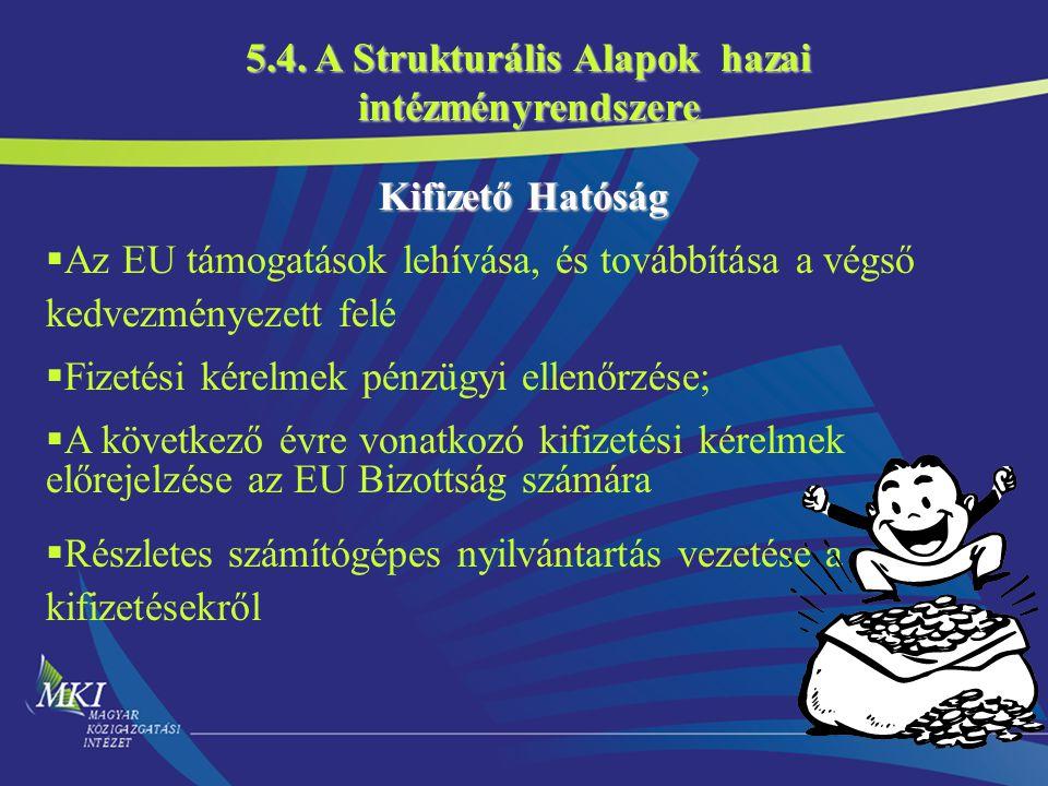 5.4. A Strukturális Alapok hazai intézményrendszere