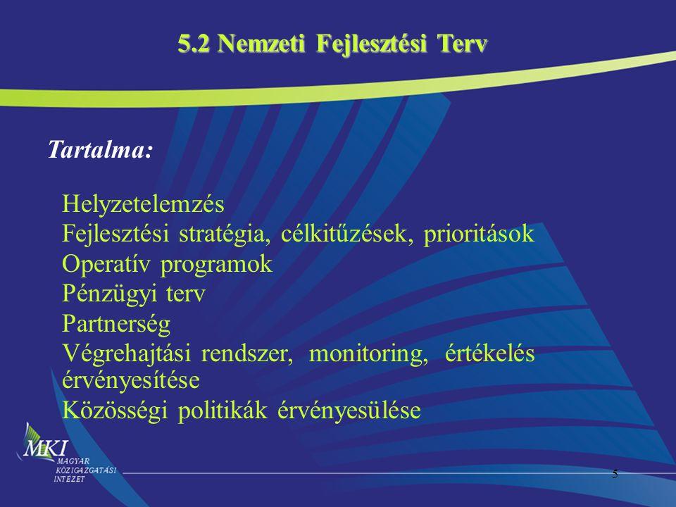 5.2 Nemzeti Fejlesztési Terv
