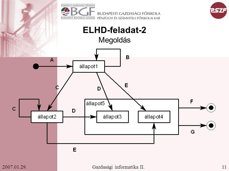 ELHD-feladat-2 Megoldás