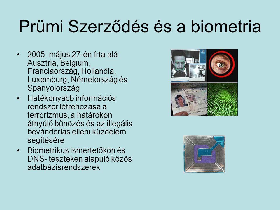Prümi Szerződés és a biometria