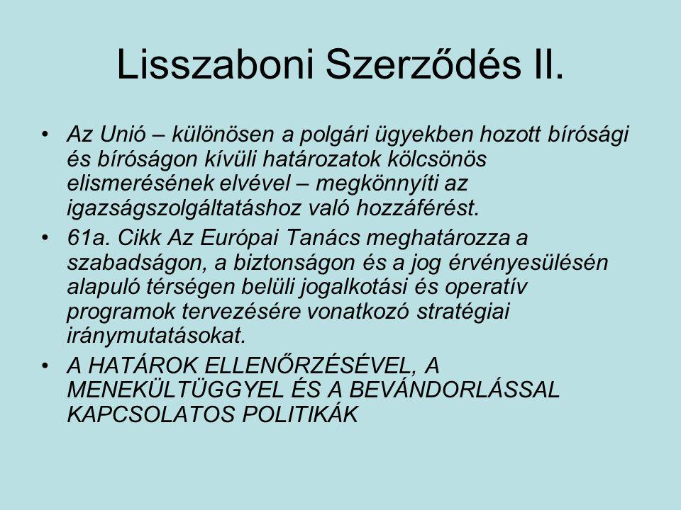 Lisszaboni Szerződés II.