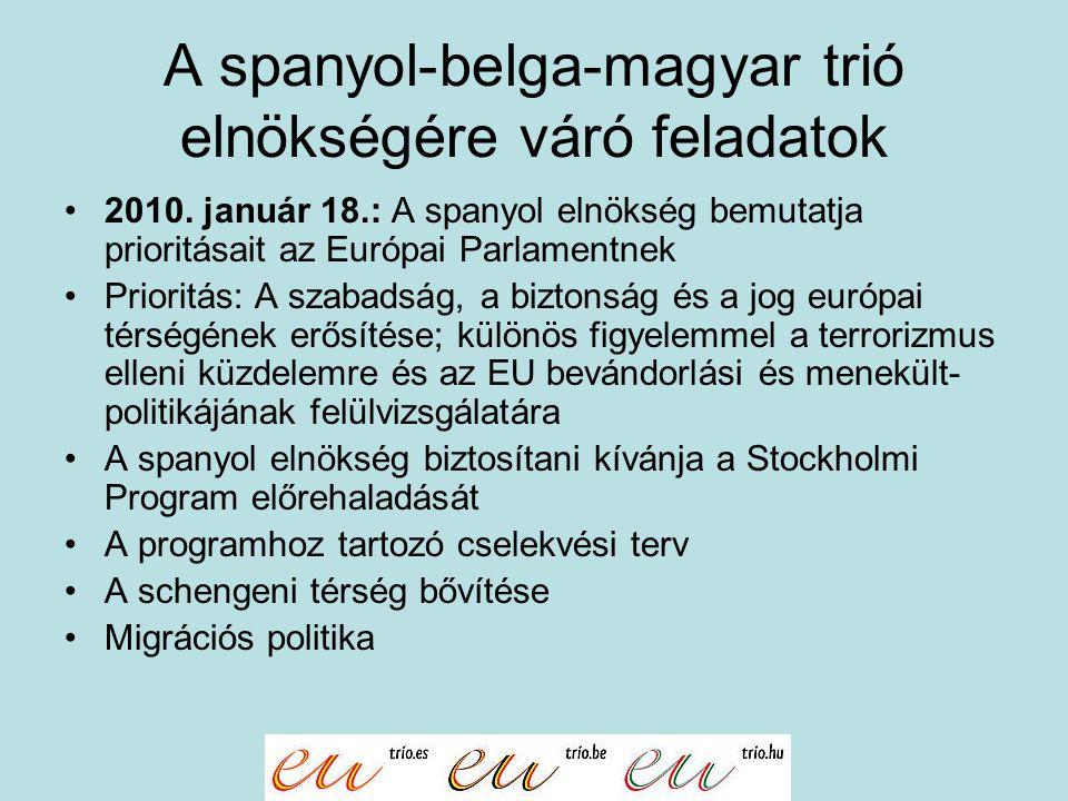A spanyol-belga-magyar trió elnökségére váró feladatok