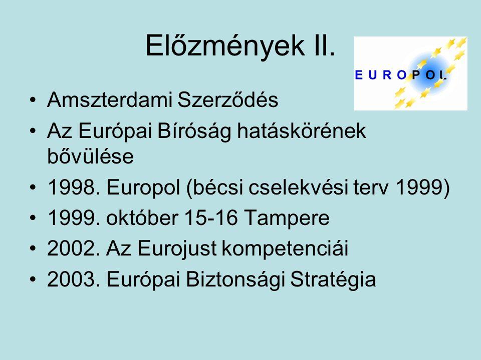 Előzmények II. Amszterdami Szerződés