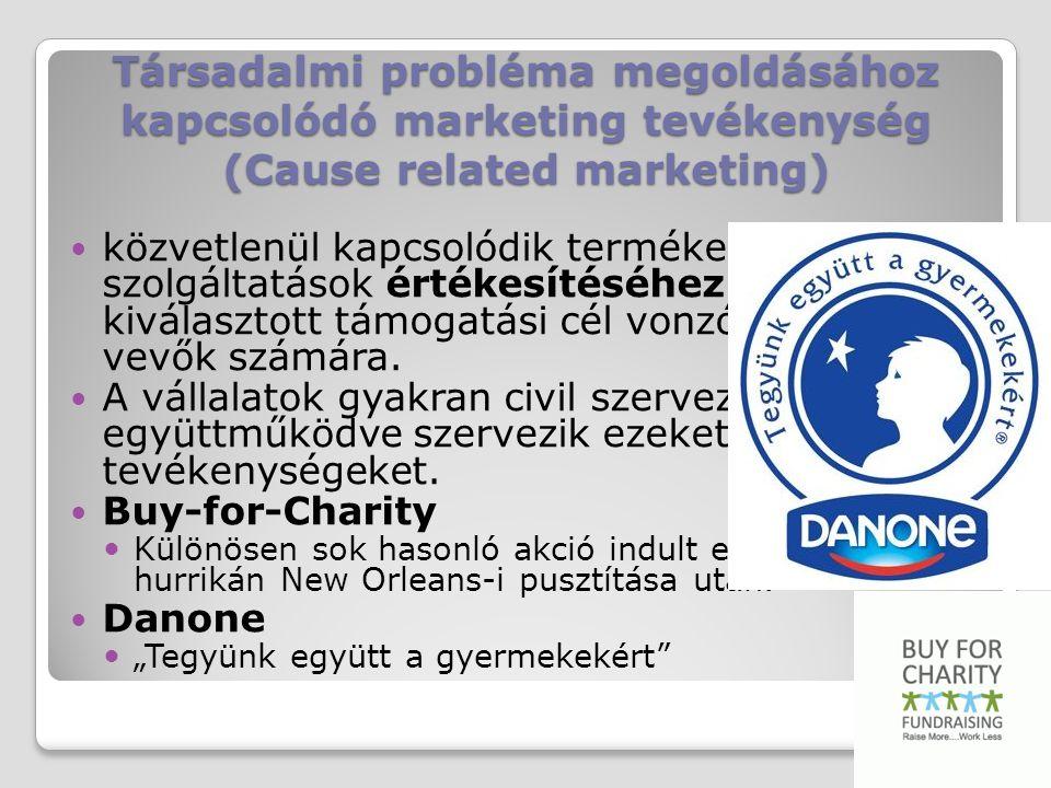 Társadalmi probléma megoldásához kapcsolódó marketing tevékenység (Cause related marketing)