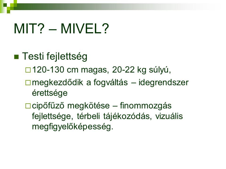 MIT – MIVEL Testi fejlettség 120-130 cm magas, 20-22 kg súlyú,