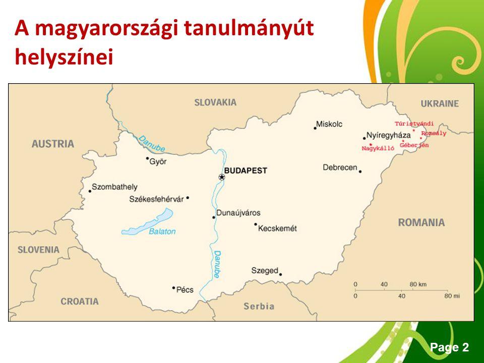 A magyarországi tanulmányút