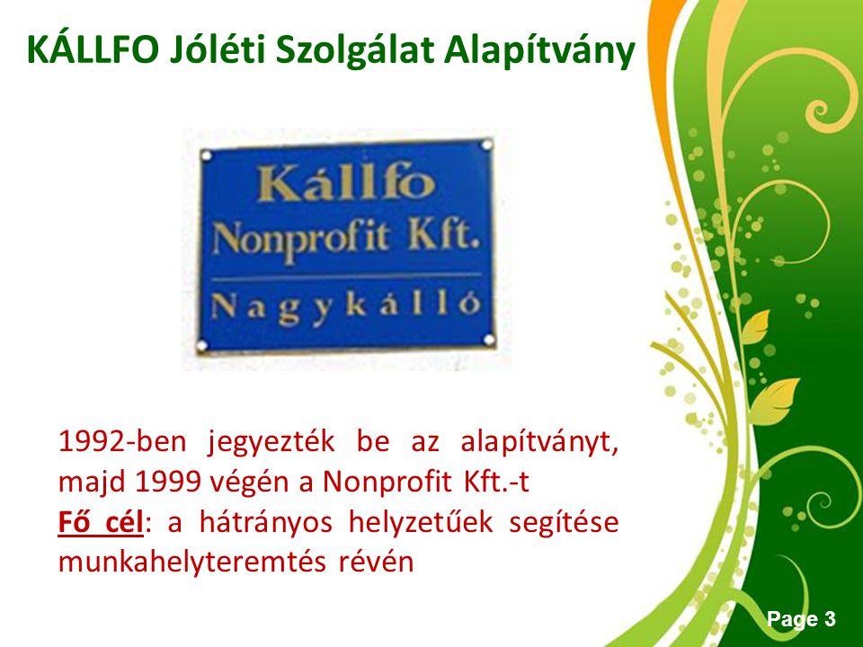 KÁLLFO Jóléti Szolgálat Alapítvány
