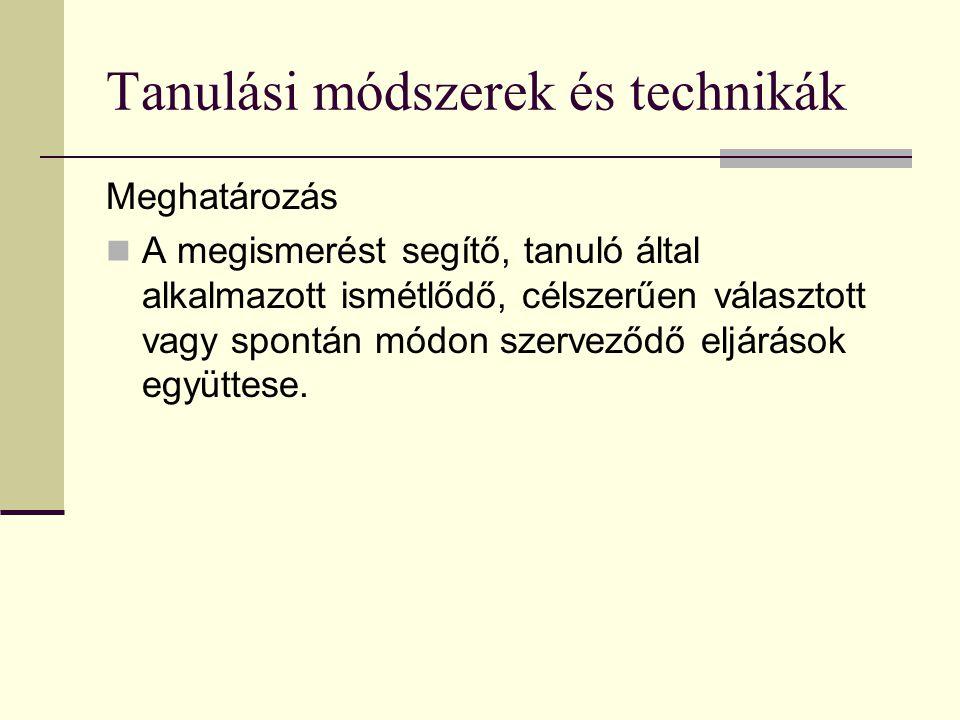 Tanulási módszerek és technikák