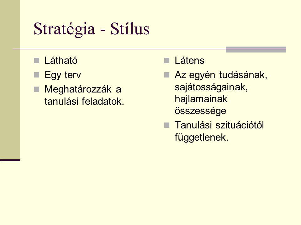 Stratégia - Stílus Látható Egy terv