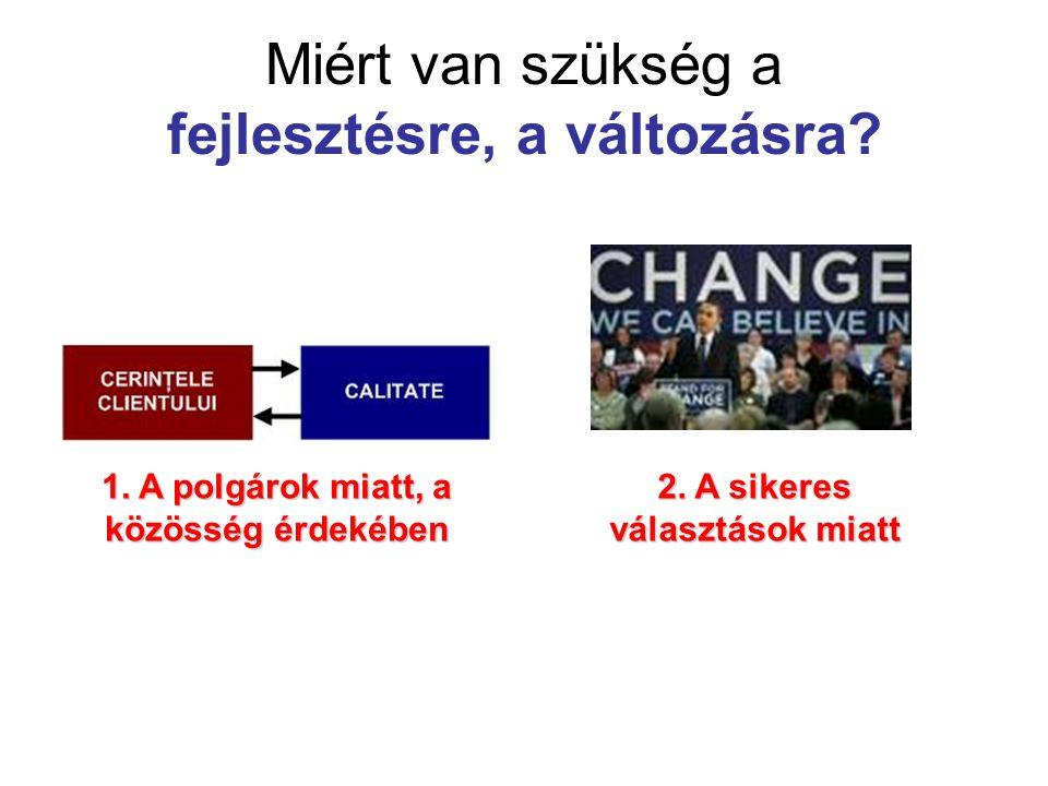 Miért van szükség a fejlesztésre, a változásra