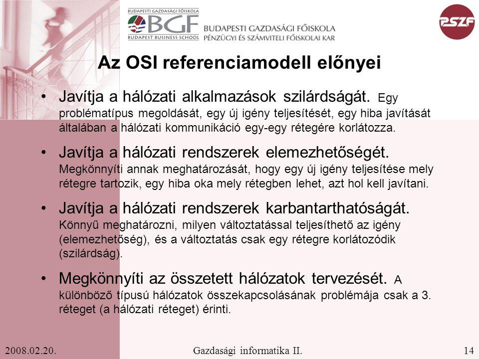 Az OSI referenciamodell előnyei