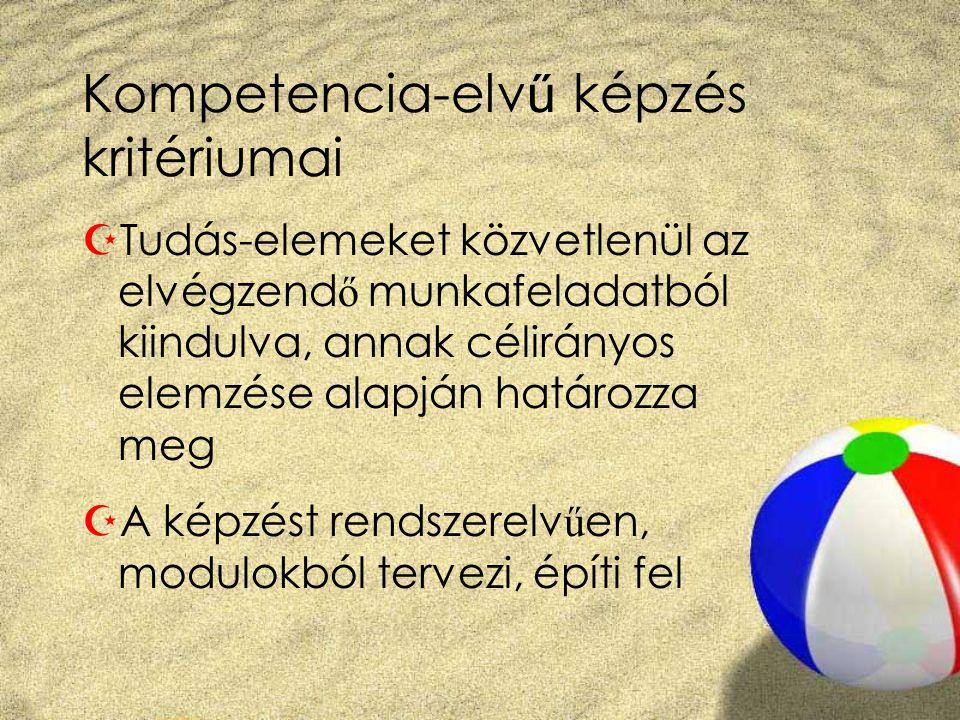 Kompetencia-elvű képzés kritériumai