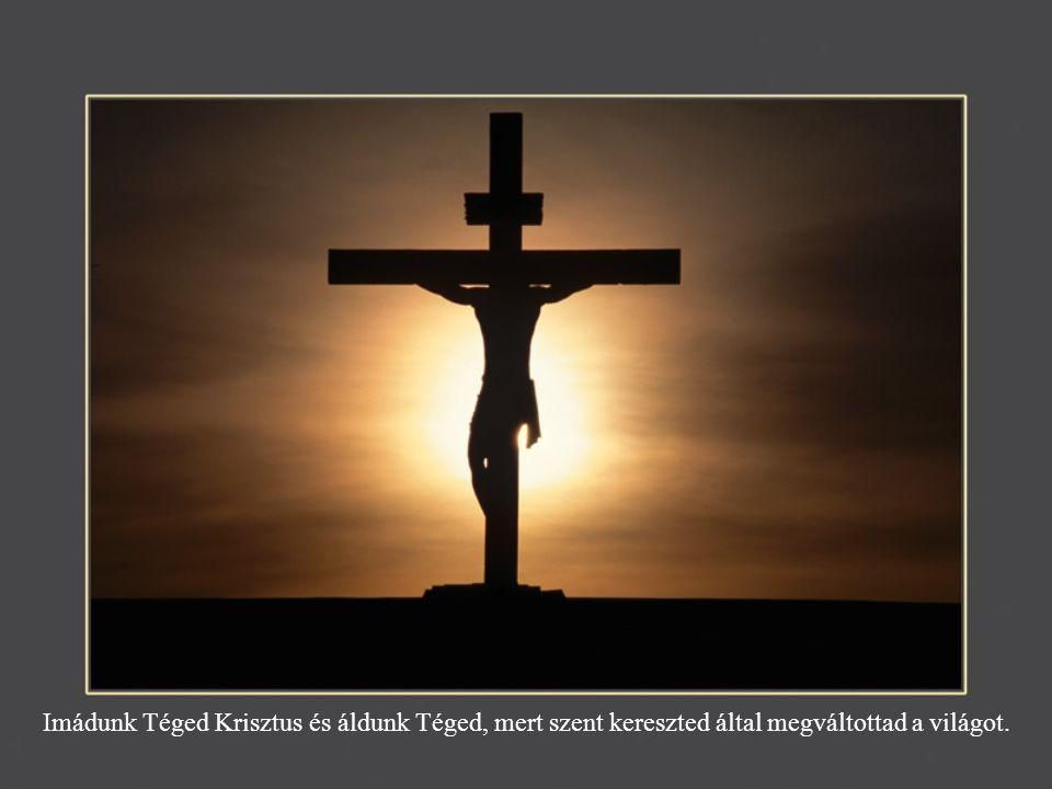 Imádunk Téged Krisztus és áldunk Téged, mert szent kereszted által megváltottad a világot.