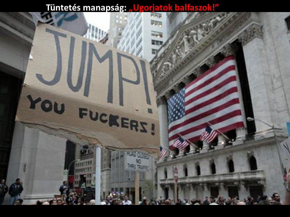 """Tüntetés manapság: """"Ugorjatok balfaszok!"""