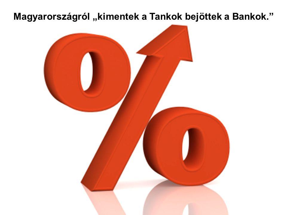 """Magyarországról """"kimentek a Tankok bejöttek a Bankok."""