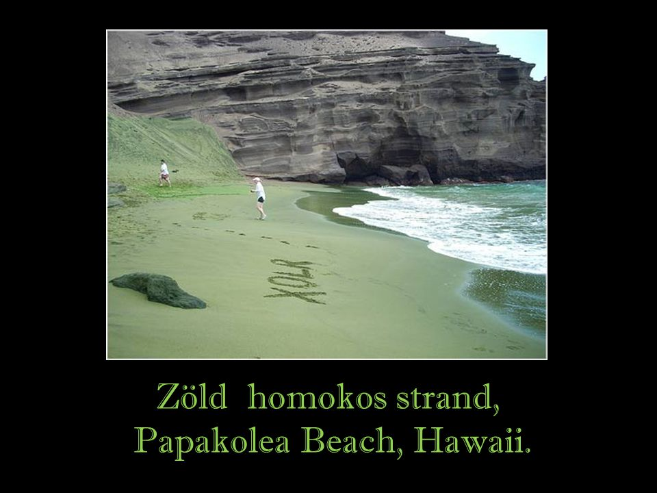 Papakolea Beach, Hawaii.