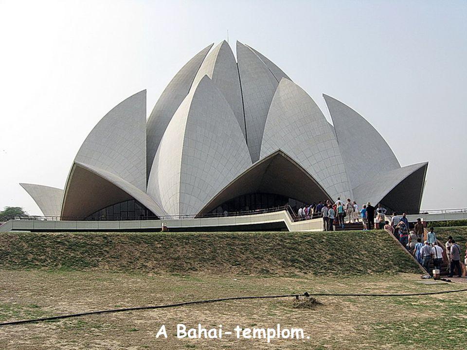A Bahai-templom.