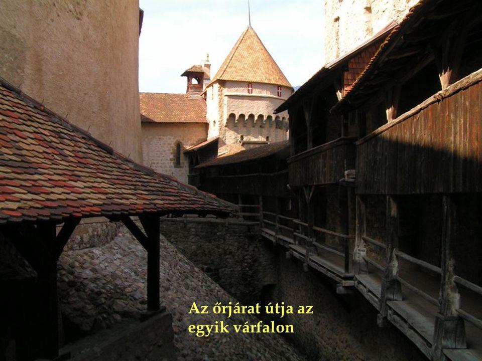 Az őrjárat útja az egyik várfalon