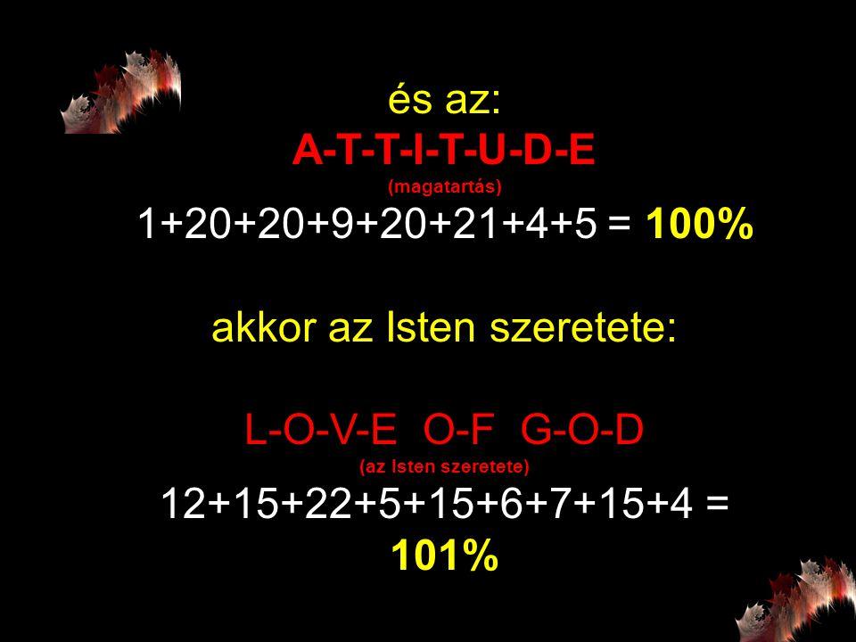 akkor az Isten szeretete: