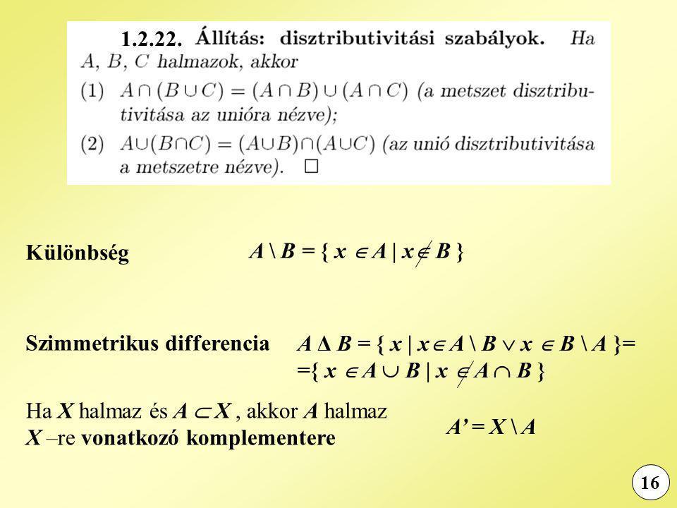 Szimmetrikus differencia