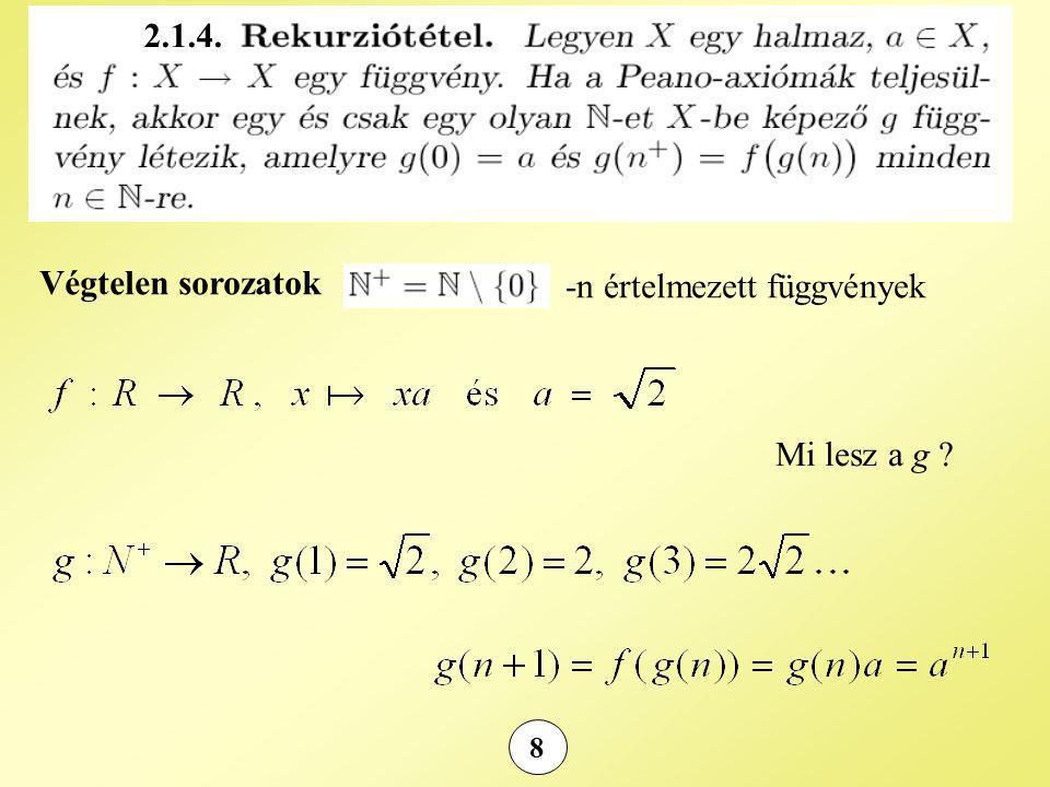 -n értelmezett függvények