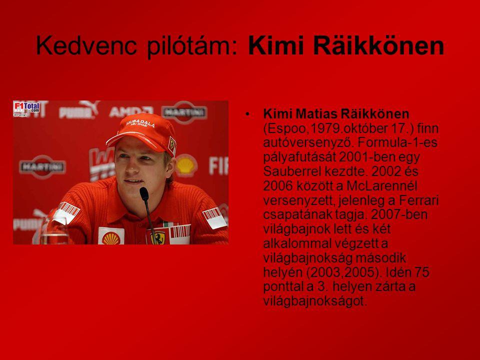 Kedvenc pilótám: Kimi Räikkönen