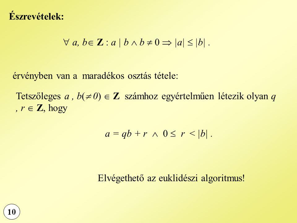  a, b Z : a | b  b  0  |a|  |b| .
