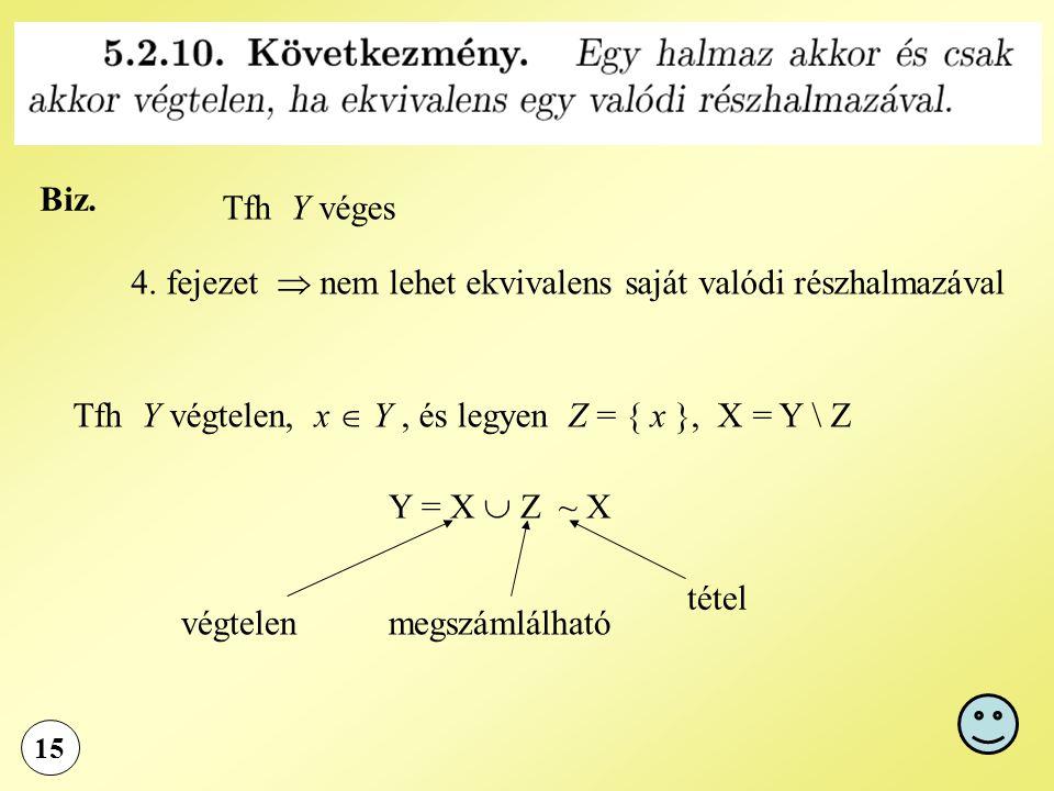 4. fejezet  nem lehet ekvivalens saját valódi részhalmazával