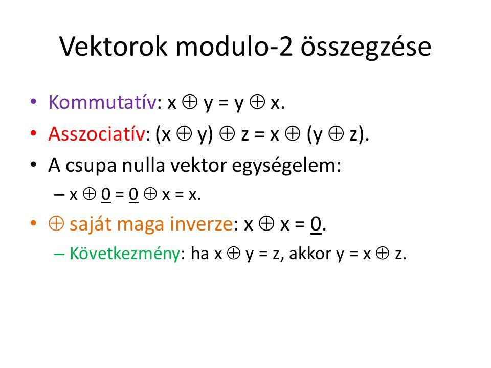 Vektorok modulo-2 összegzése