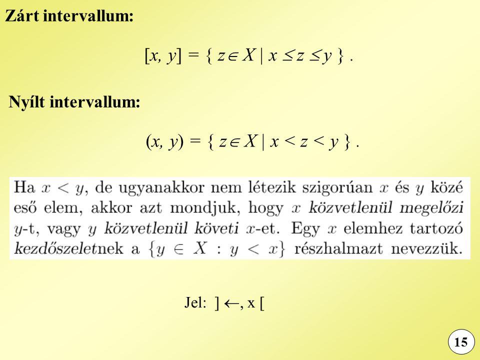 (x, y) = { z X | x < z < y } .