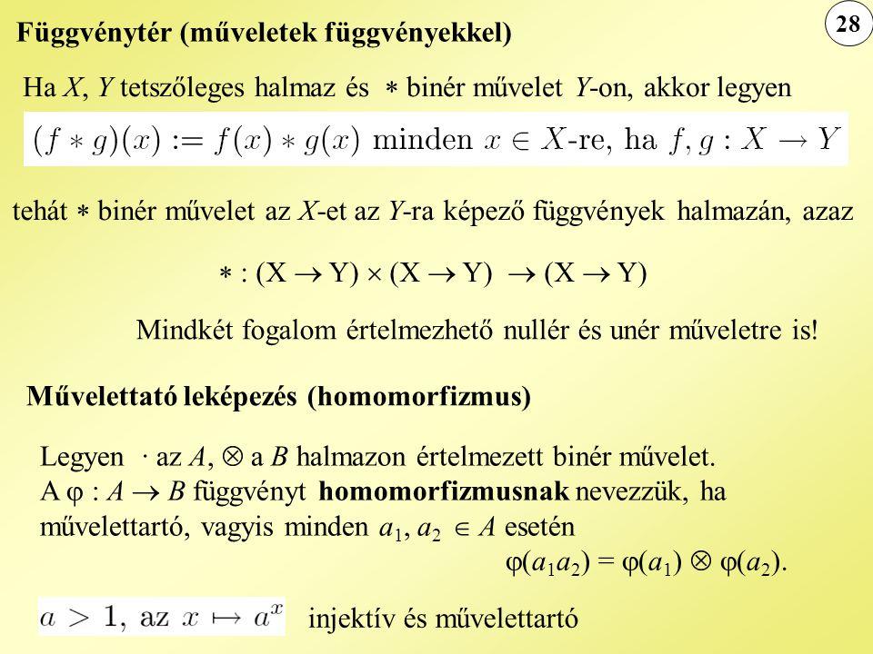 Függvénytér (műveletek függvényekkel)