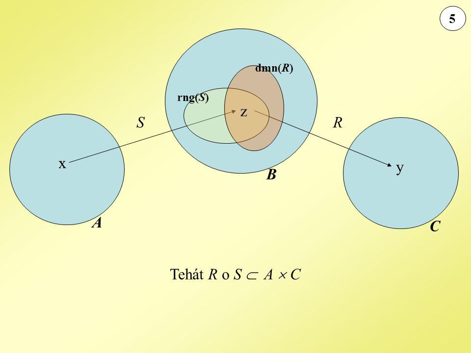 5 dmn(R) rng(S) z S R x y B A C Tehát R o S  A  C