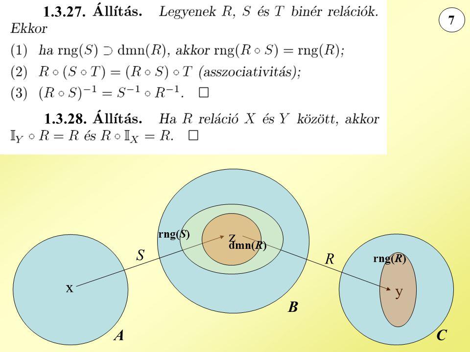 1.3.27. 7 1.3.28. rng(S) z dmn(R) S R rng(R) x y B A C