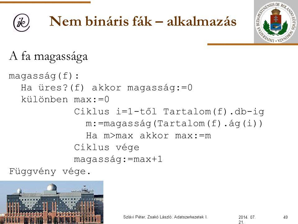 Nem bináris fák – alkalmazás