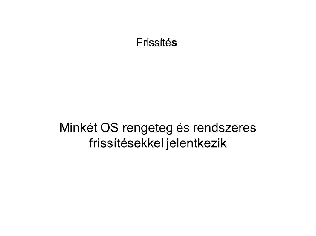 Minkét OS rengeteg és rendszeres frissítésekkel jelentkezik