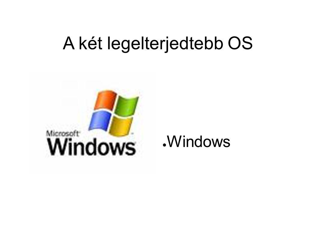A két legelterjedtebb OS