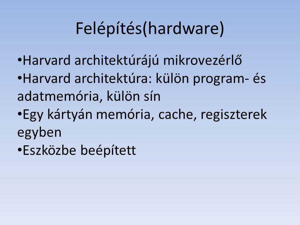 Felépítés(hardware) Harvard architektúrájú mikrovezérlő