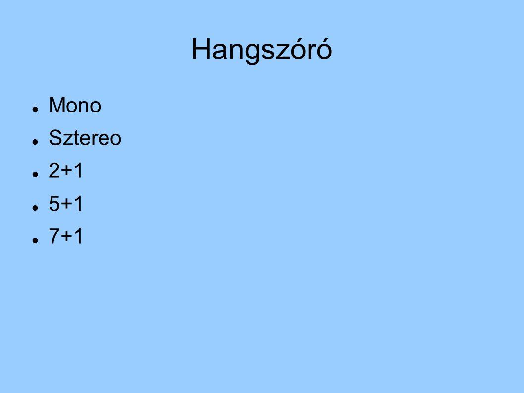 Hangszóró Mono Sztereo 2+1 5+1 7+1