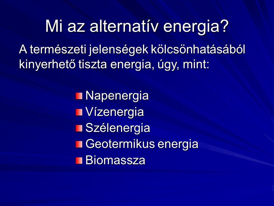 Mi az alternatív energia