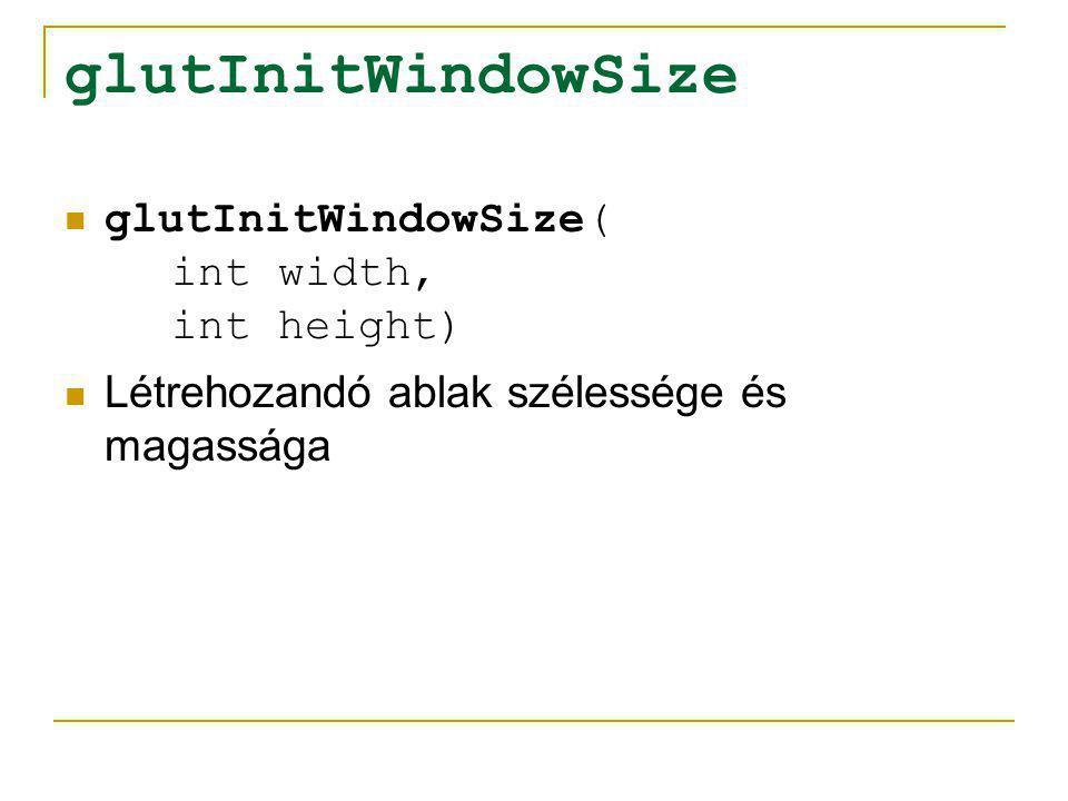 glutInitWindowSize glutInitWindowSize( int width, int height)