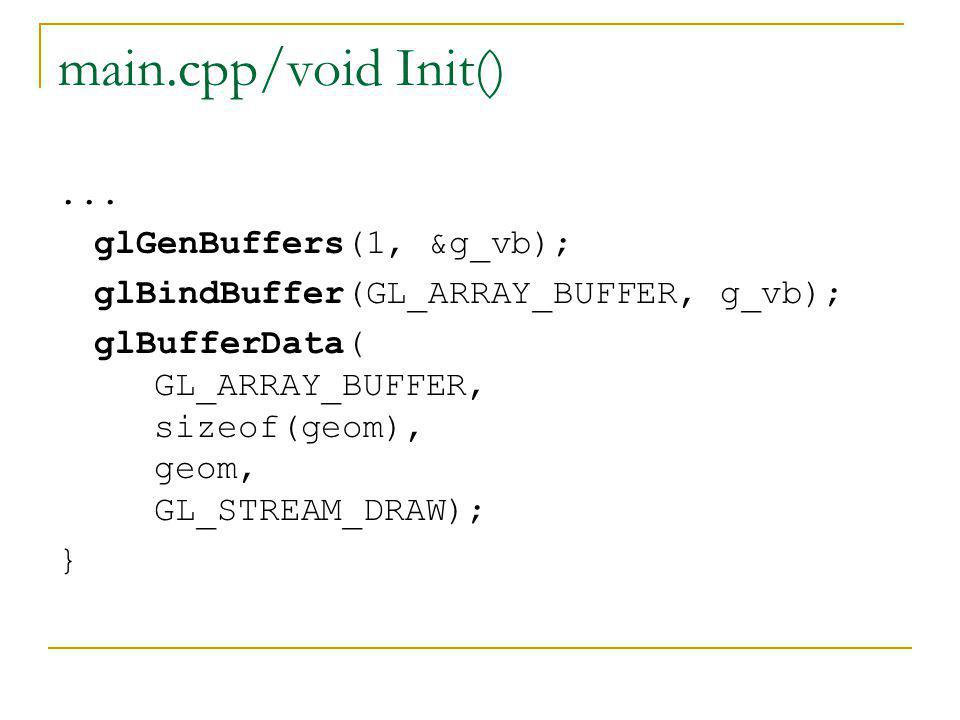 main.cpp/void Init() ... glGenBuffers(1, &g_vb);