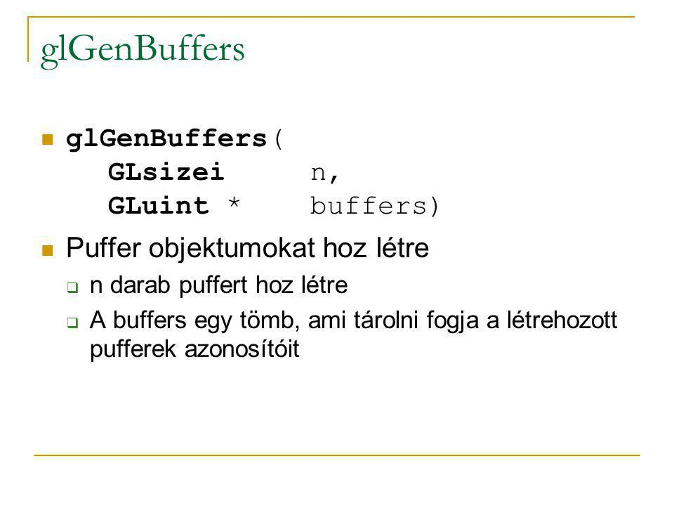 glGenBuffers glGenBuffers( GLsizei n, GLuint * buffers)
