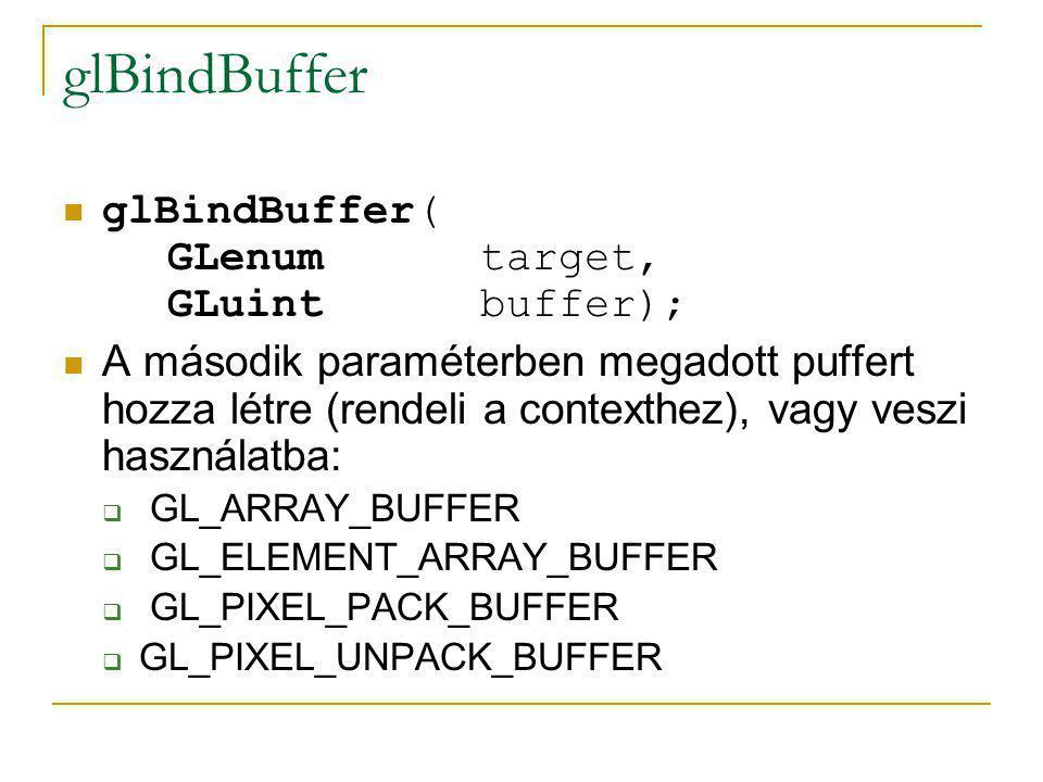 glBindBuffer glBindBuffer( GLenum target, GLuint buffer);