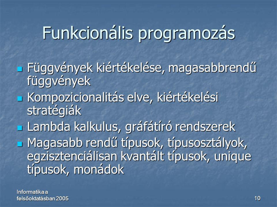 Funkcionális programozás