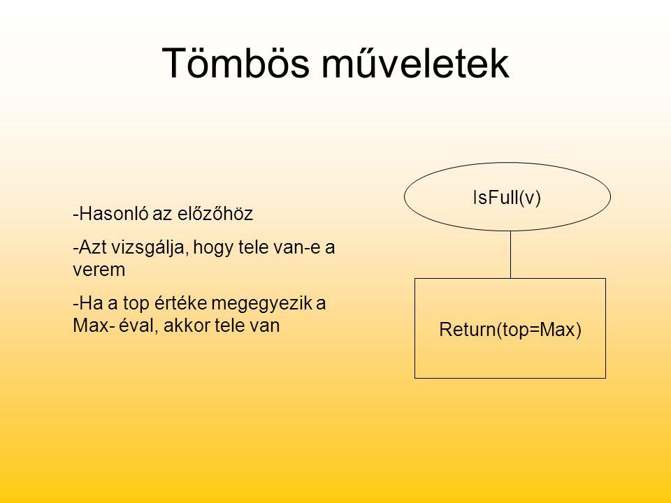 Tömbös műveletek IsFull(v) -Hasonló az előzőhöz