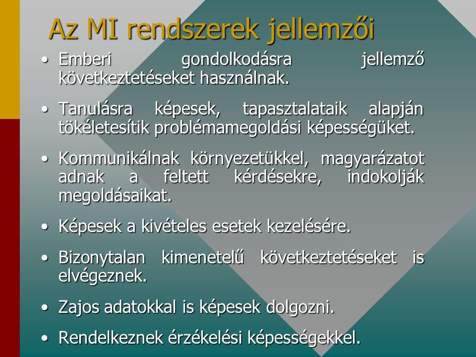 Az MI rendszerek jellemzői