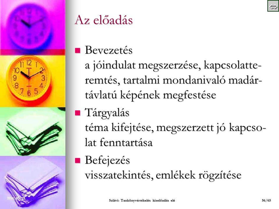 Szlávi: Tankönyvértékelés kiselőadás elé