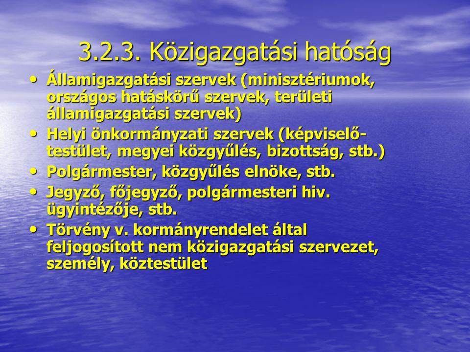 3.2.3. Közigazgatási hatóság